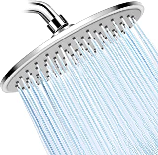 WarmSpray Rain Shower Head High Pressure with 9 Inch Thin Chrome Large Coverage Rainfall Spray Shower Relaxation and ABS Engineering Material