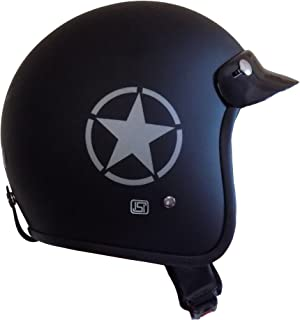 Anokhe Collections ABS Shell ISI Certified Guardian Open Face Helmet (Matte Black, S)