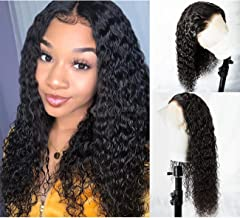 360 Lace Frontal Wig Water Wave Human Hair Wigs for Black Women 150% Density 360 Lace Wig Natural Color 22 inch