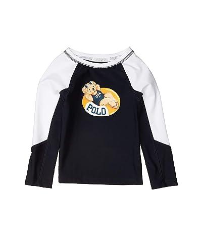 Polo Ralph Lauren Kids Pool Bear Stretch Rashguard (Toddler) (Hunter Navy) Girl