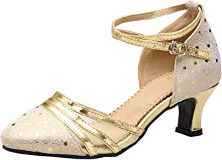 Star Dance Shop Ladies Latin Tan Satin Dance Shoe 708202j in Size 10 with 2.5 inch Heel