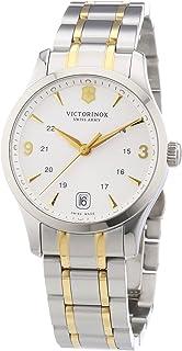 Victorinox Swiss Army - Classic Alliance 241543 - Reloj analógico de Cuarzo para Mujer, Correa de Acero Inoxidable Color Plateado (Agujas luminiscentes, Cifras luminiscentes)