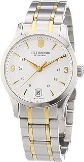 Classic Alliance 241543 - Reloj analógico de Cuarzo para Mujer, Correa de Acero Inoxidable Color Plateado (Agujas luminiscentes, Cifras luminiscentes)