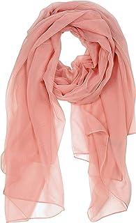 Bovari Damen Chiffon Schal Tuch Stola – extra leicht – XL size – Seidenschal Feeling - viele Farben