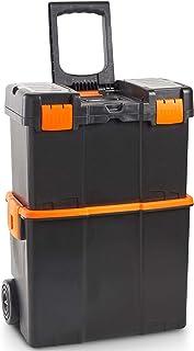 VonHaus Caja de herramientas con Ruedas - Centro de trabajo móvil seguro/Unidad de almacenamiento