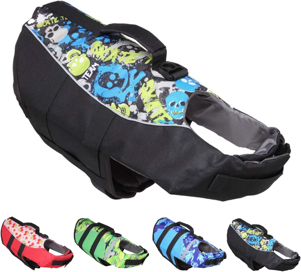 Huret Dog Life Jacket Dogs for Max 67% OFF Swimming Vests Puppy Float At the price of surprise