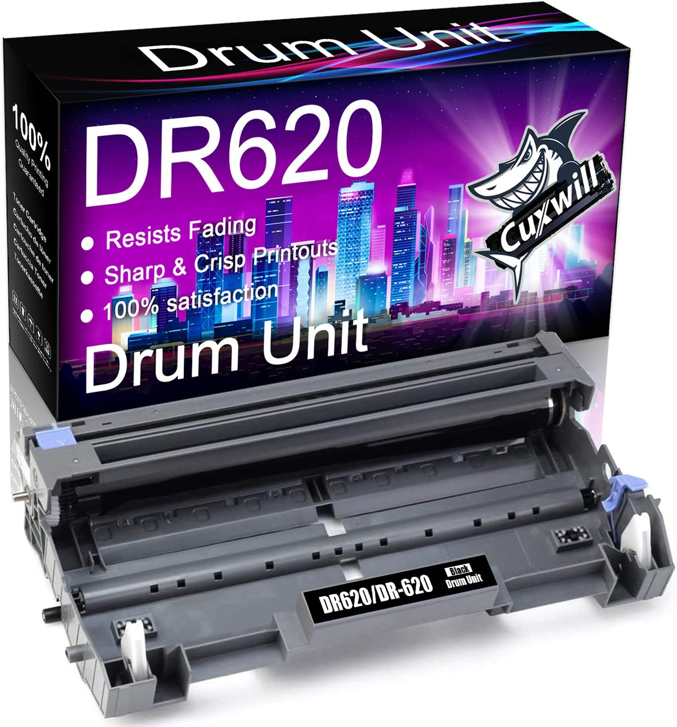 Cuxwill Compatible Drum Unit Replacement for Brother DR620 DR520 to use with HL-5370DW MFC-8890DW HL-5250DN HL-5240 HL-5340D MFC-8460N MFC-8480DN MFC-8660DN MFC-8680DN MFC-8690DW MFC-8860DN Printer