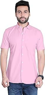 FifthAnfold Men Solid Casual Half Sleev Shirt