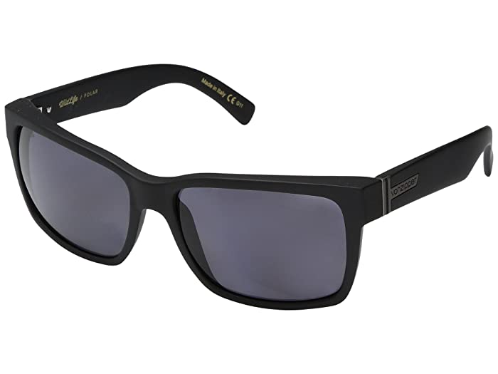 VonZipper Elmore Polar (Black Satin/Wild Vintage Grey Polar) Fashion Sunglasses