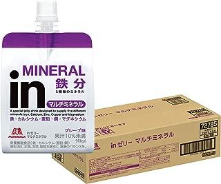 inゼリー マルチミネラル グレープ味 (180g×36個) 栄養補助ゼリー 10秒チャージ 5種類のミネラル配合 栄養機能食品(鉄・カルシウム・亜鉛・銅)