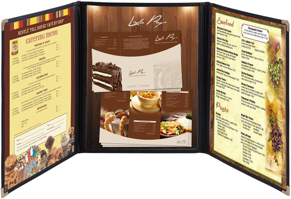 Yescom 30x Menu Cover 8.5X11 6 Double Fold View Tr Max 48% OFF Stitch Ranking integrated 1st place Triple