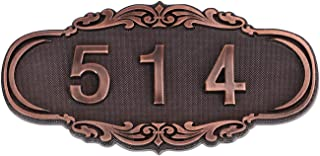 BXT Customized House Mailbox Number Sign Self-Adhesive,3-4 Digits, Personalized Name Plate for Door,Office,Wall,Garden,Hotel,Apartment,Dormitory Room Number Plague Signs