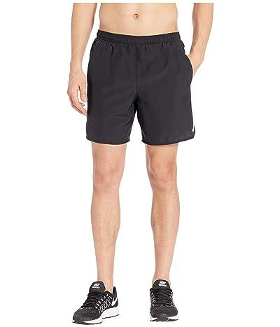 Nike Challenger Shorts 7 BF (Black/Black/Reflective Silver) Men