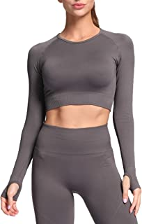 Aoxjox Yoga Two Piece Outfits for Women Set,Hyperflex Workout High Waist Athletic Seamless Shorts and Bras Set Gym Clothes