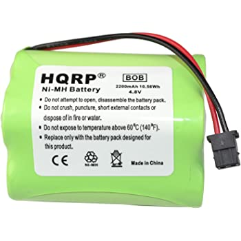 HQRP 2200mAh Battery Works with Uniden Bearcat BP-180 BP180 BP-250 BP250 BBTY0356001 BC245 BC245XLT UBC245XLT BC250 BC250D BC296 BC296D Scanner