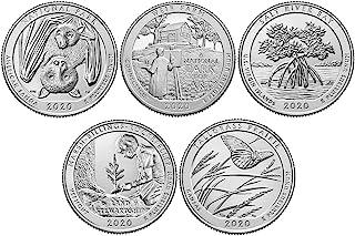 2020 P, D National Park Quarter 10 Coin Set Uncirculated