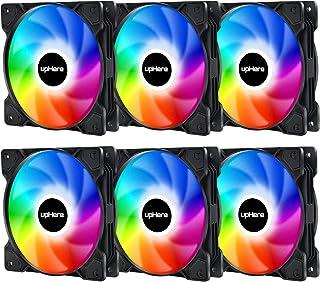 upHere Ventilateur de 120mm LED,Ventilateur de boîtier RGB pour Les boîtiers de PC,Silencieux,Ventilateurs CPU et radiateu...