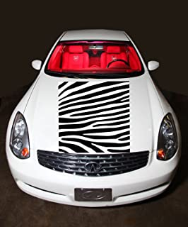 Auto Car Vinyl Decal Zebra Tiger Stripe for Hood Decor Removable Stylish Sticker tk136