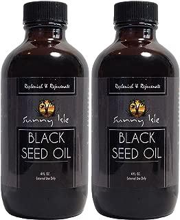 Sunny Isle BLACK SEED OIL 4oz (Pack of 2)