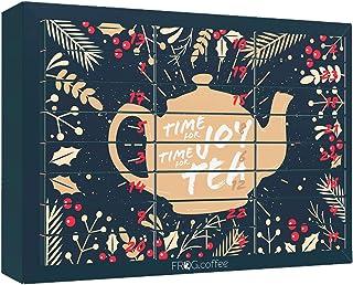 Tee-Adventskalender von FROG.coffee   Doppelter Genuss - 48 Teebeutel   Teekanne, ChariTea, Meßmer, Cupper, Bünting uvm.  ...
