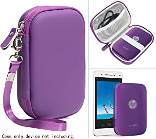 Passion Purple Portable Photo Printer Case for HP Sprocket Portable Photo Printer, Polaroid Snap Touch, ZIP Mobile Printer, Lifeprint 2x3 Photo AND Video Printer, Mesh Pocket for Photo Paper and Cable