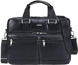 """STILORD """"Vito"""" Vintage Businesstasche Leder Herren Damen 14 Zoll Laptoptasche Umhängetasche Aktentasche Arbeitstasche Rindsleder, Farbe:schwarz"""