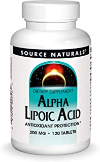 Source Naturals Alpha Lipoic Acid 200 mg Supports Healthy Sugar Metabolism, Liver Function & Energy Generation - 120 Tablets
