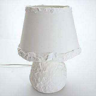 Chrisell Decor oggetti d'Arte - Lampada materica decorativa abat jour da atmosfera - colore Bianco