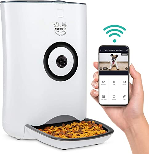 new arrival Arf Pets Smart Automatic Pet Feeder with sale Wi-Fi, HD Camera with Voice and Video Recording, online sale Programmable Food Dispenser for Dogs & Cats with Easy App-Controlled, 29-Cup Capacity, for iPhone & Android online