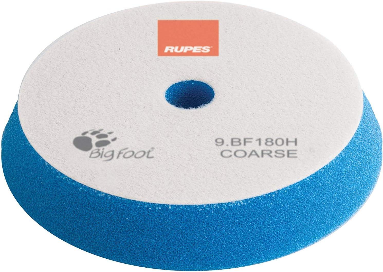 Rupes Bigfoot Polierschwamm Klett 150 180 Mm 1 Stück Pad Zum Polieren Mit Lhr21 Und Mark 2 Zur Lack Aufbereitung Blau Hart Coarse Auto