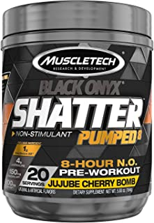 MuscleTech Shatter Pumped 8 Black Onyx - JuJube Cherry Bomb