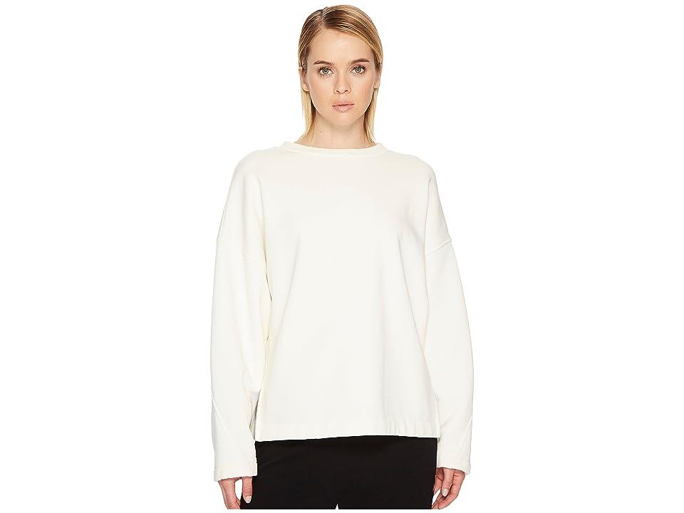 Vince Pullover Cotton Sweatshirt (Oatmeal/Off-White) Women