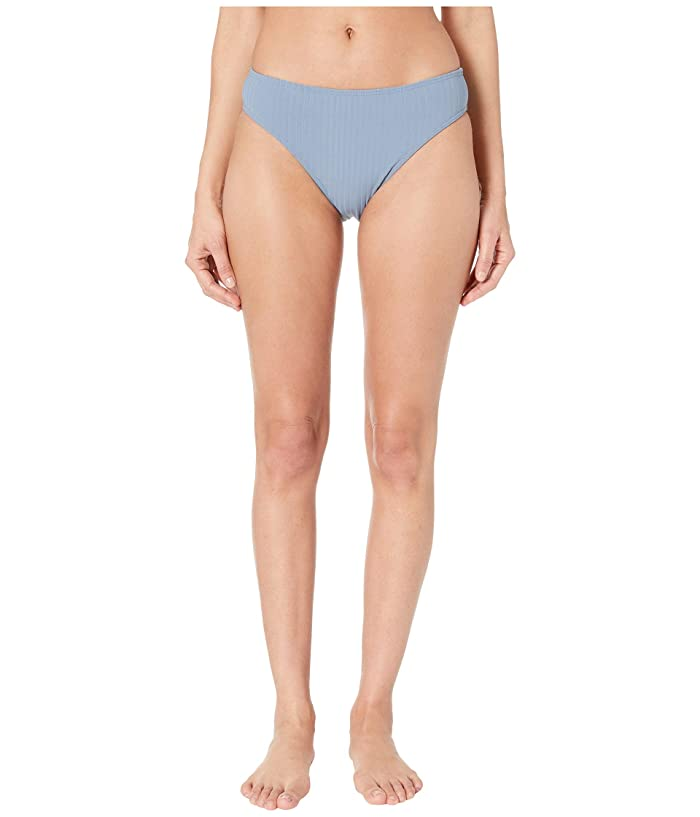 Roxy Color My Life Moderate High Leg Swimsuit Bottoms (Blue Mirage) Women