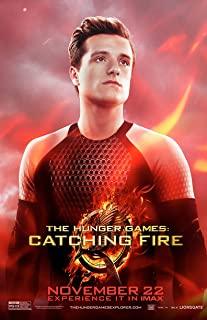 Movie Poster The Hunger Games 2 : Catching Fire (2013) - Peeta Red - 13 in x 19 in Flyer Borderless + Free 1 Tile Magnet