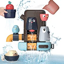 Kaekid Baby Bath Toys,Toddlers Bathtub Toy Games, 16 Months+ Baby Toddlers Animal Shower Toys with Suction Cups,Waterfall ...