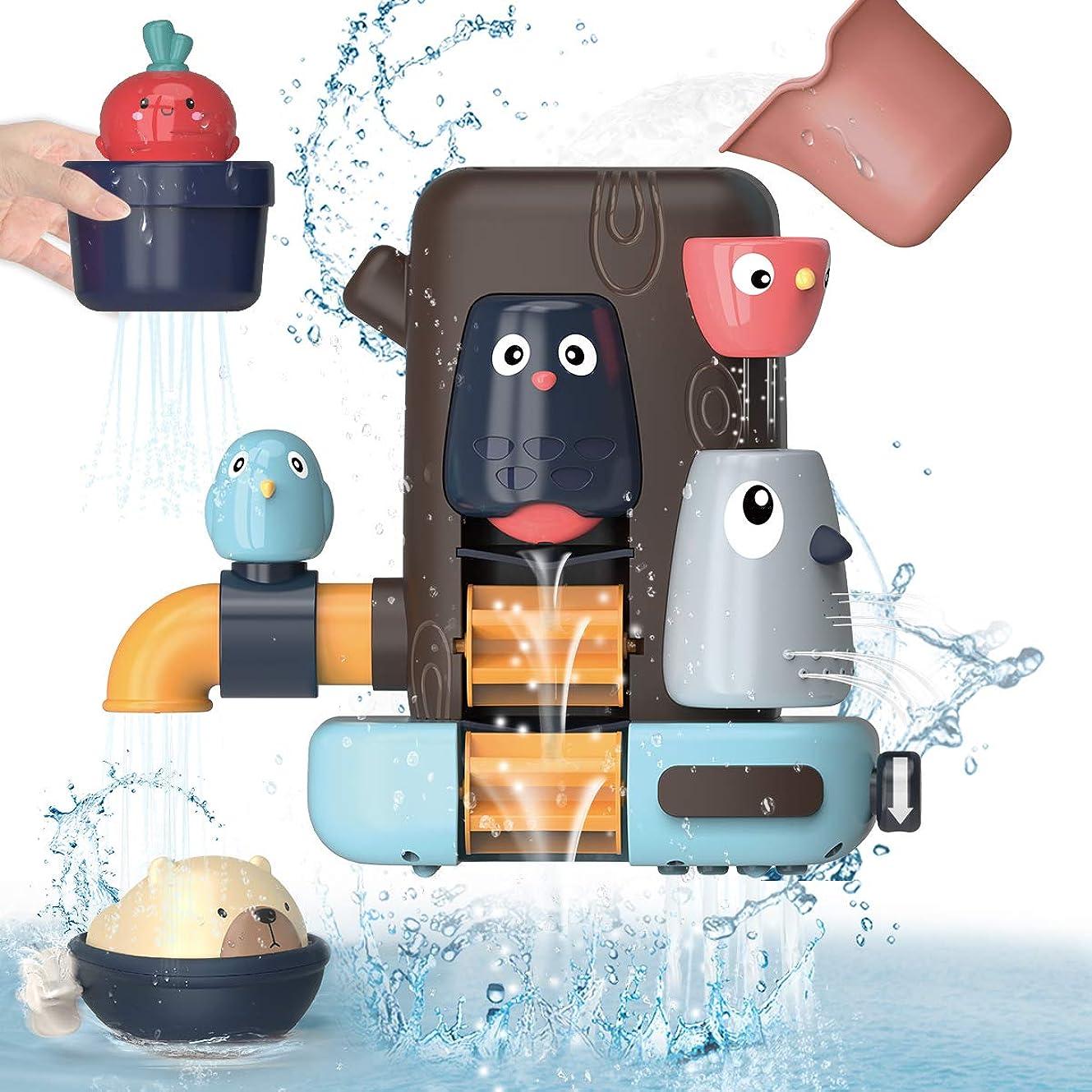 限界冷蔵する船上REMOKING 2020新型 お風呂 おもちゃ 水遊び おもちゃ 女の子 男の子 キッズ かわいい動物 水スプレー 遊びいっぱい 子供 赤ちゃんおもちゃ シャワーカップ 男女共用 贈り物 誕生日プレゼント 子供をお風呂が好きになる