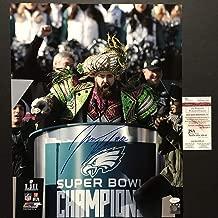 Autographed/Signed Jason Kelce Super Bowl Parade Speech Mummers Philadelphia Eagles 16x20 Football Photo JSA COA