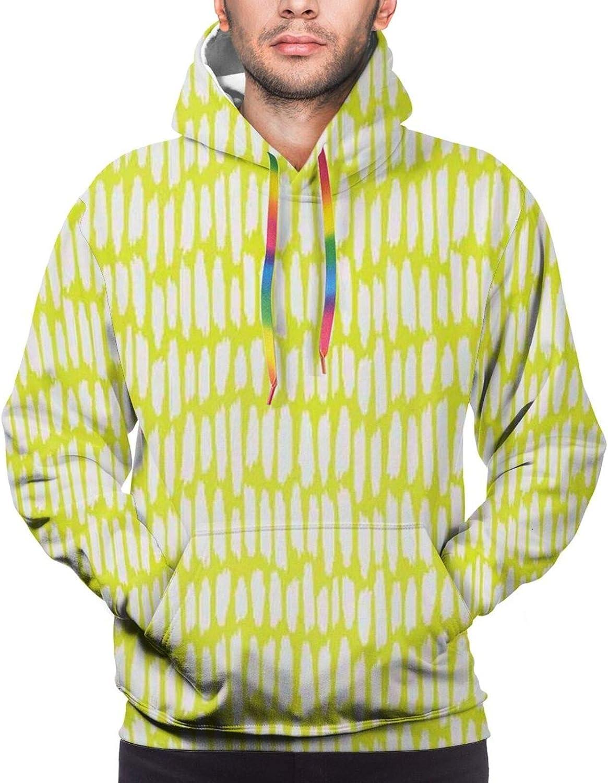 Men's Hoodies Sweatshirts,Abstract Aztec Zigzag Form Artistic Symmetric Digital Print