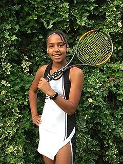Girls Black & White Designer Tennis Dress Pleated Tennis Dress, Junior Tennis Dress, Girls Golf Dress, Kids Golf Clothing, Glrls Sportswear, Girls Netball Dress