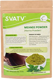 SVATV :: 100% Natural Organically Cultivated Henna Powder Specially For Hair - Triple Sifted Henna Powder - Lawsonia Inermis (For Hair - 227 gms) - No PPD no chemicals, no parabens