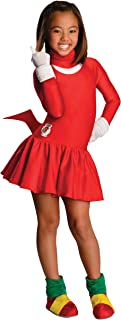 Sonic The Hedgehog Girls Knuckles Costume, Large