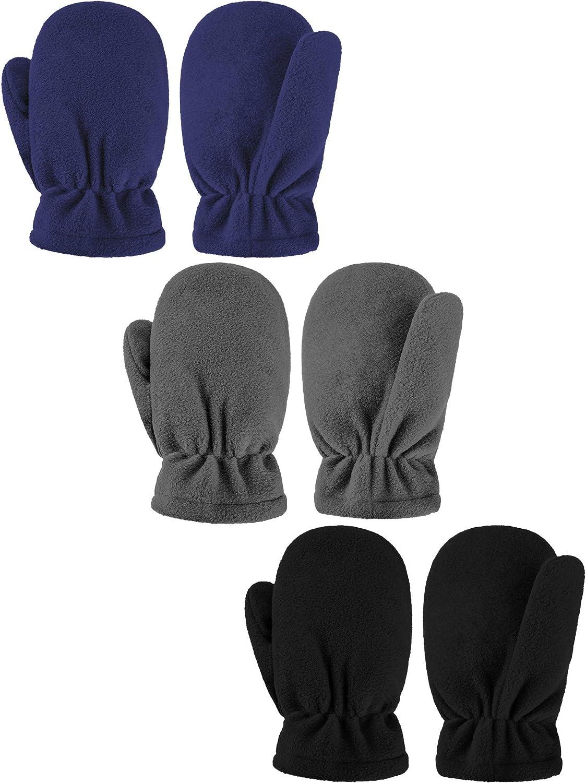 3 Special sale item Pairs Mail order cheap Kids Windproof Mitten Winter Warm Fleece Gloves S