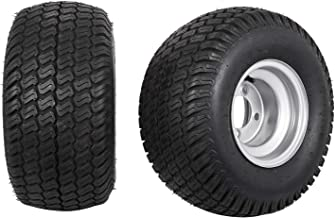 Bestauto Golf Cart Tires 18X9.50 8 Go Kart Tire Rim Wheel Assembly Zero Turn 18 950 8 1070LB Capacity Sets of Two