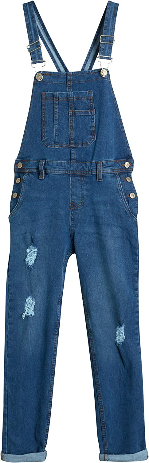 WallFlower Sale price Jeans Girls' Overalls At the price of surprise Stretch Cuffed Denim -
