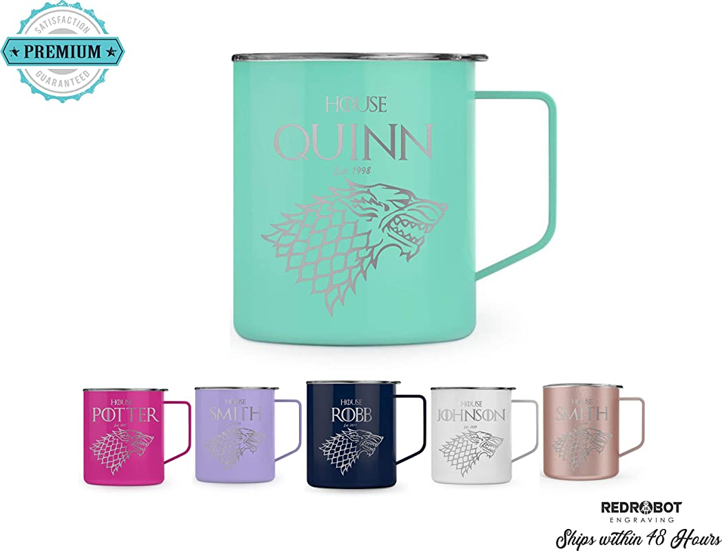 Game Of Thrones Inspired Personalized Insulated 14 Oz Insulated Coffee Mug Made To Order Fully Customizable Gift For Her Or Him Coffee Is Coming
