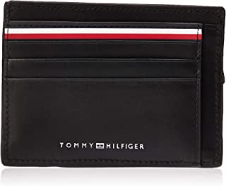 Tommy Hilfiger Zip Card Holder for Men-Black