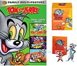 Friends Foes Original 4 PACK: Tom and Jerry Animated Movies- Tom and Jerry The Movie/ Blast Off to Mars/ The Fast and the Furry DVD + Hana-Barbera Figure Mini Book Cartoon fun Pack Bundle