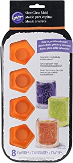 Wilton 2105-4633 8 Cavity Spiderweb Silicone Shot Mold, Orange