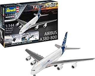 Revell GmbH 00453 Airbus A380-800 Technik Plastic Model Kit with Electronics and Sound, White, 1:144
