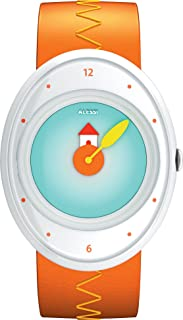 Alessi Kids AL20001 Millennium Jr. Orange Strap with House Watch